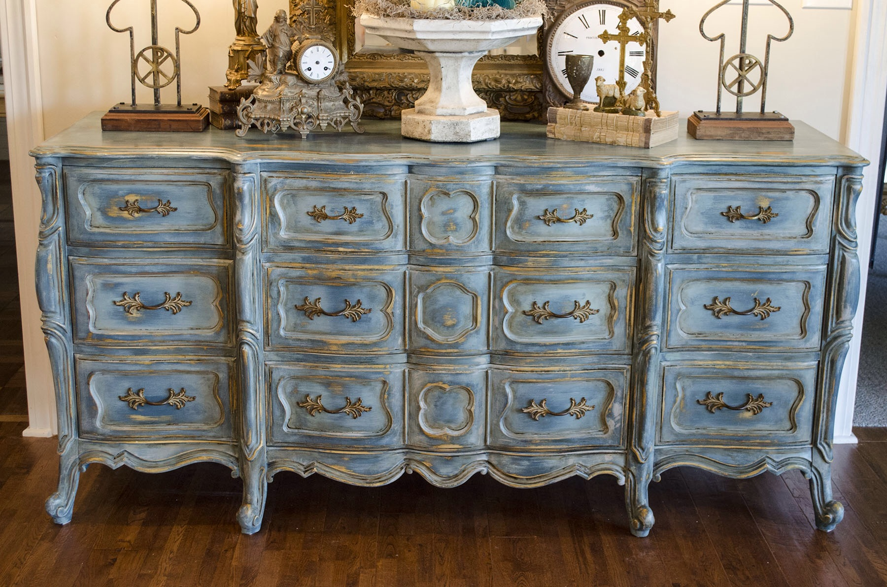 Large Painted Kitchen Dresser