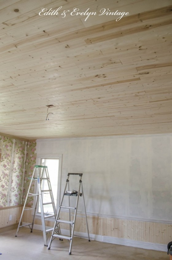 ceilings ceiling color material panel covered on installing porch paint wood