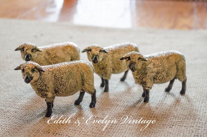 DIY Sheep Decor | Edith & Evelyn | www.edithandevelynvintage.com