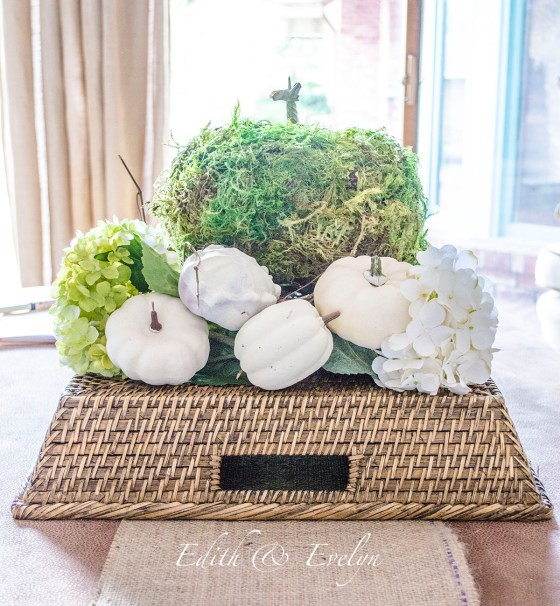 Simple Fall Decor |Edith& Evelyn |www.edithandevelynvintage.com