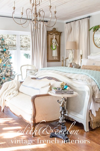 A Touch of Christmas in the Master Bedroom