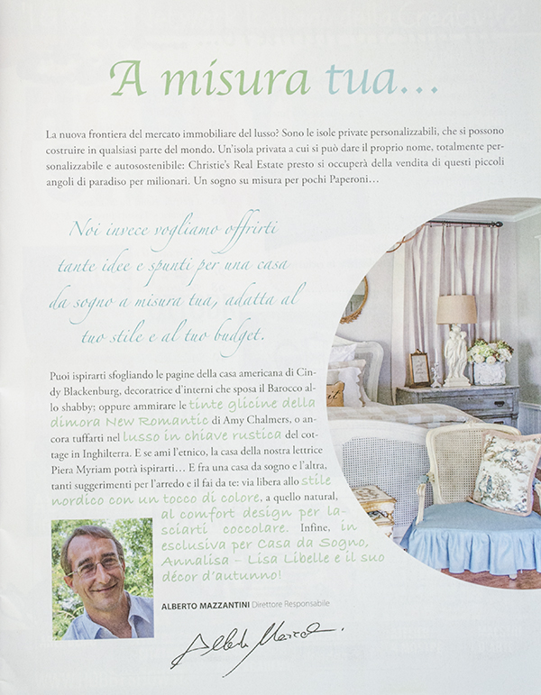 Our Home Feature in Casa da Sogno Magazine