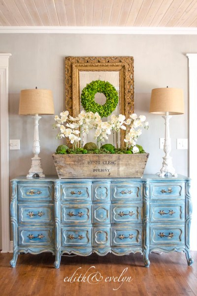 French Country Fridays  No. 9 ~ Louis XV Commode, Gardens, Elegant Family Room and More!
