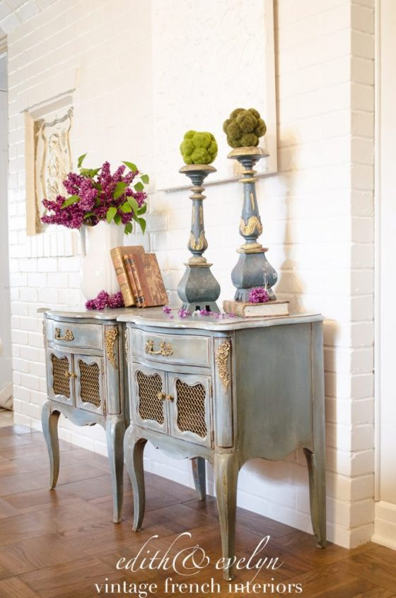 French Nightstand Transformation