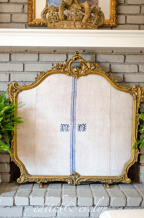 Creating a Fireplace Screen   Edith & Evelyn Vintage   www.edithandevelynvintage.com