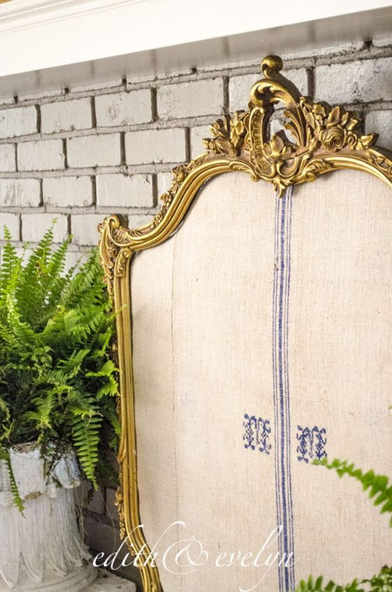 Creating a Fireplace Screen | Edith & Evelyn Vintage | www.edithandevelynvintage.com