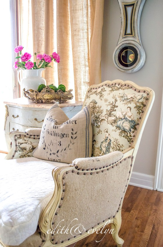 Why You Should Give That Ugly French Chair A Second Look | www.edithandevelynvintage.com