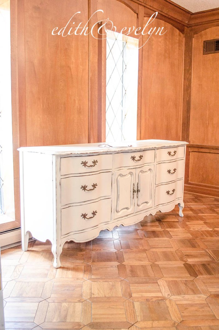 Transforming Furniture with Mouldings | Evelyn's Dresser | Edith & Evelyn Vintage | www.edithandevelynvintage.com