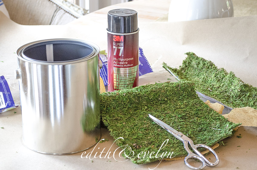 Easy Moss Planter | Edith & Evelyn Vintage | www.edithandevelynvintage.com