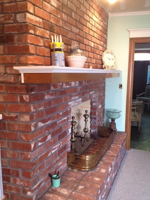 How to Paint a Brick Fireplace | Edith & Evelyn | www.edithandevelynvintage.com