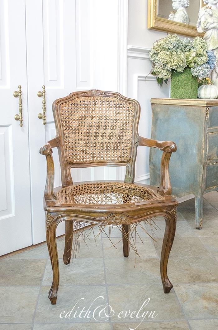 A French Cane Chair Redo | Edith U0026 Evelyn | Www.edithandevelynvintage.com