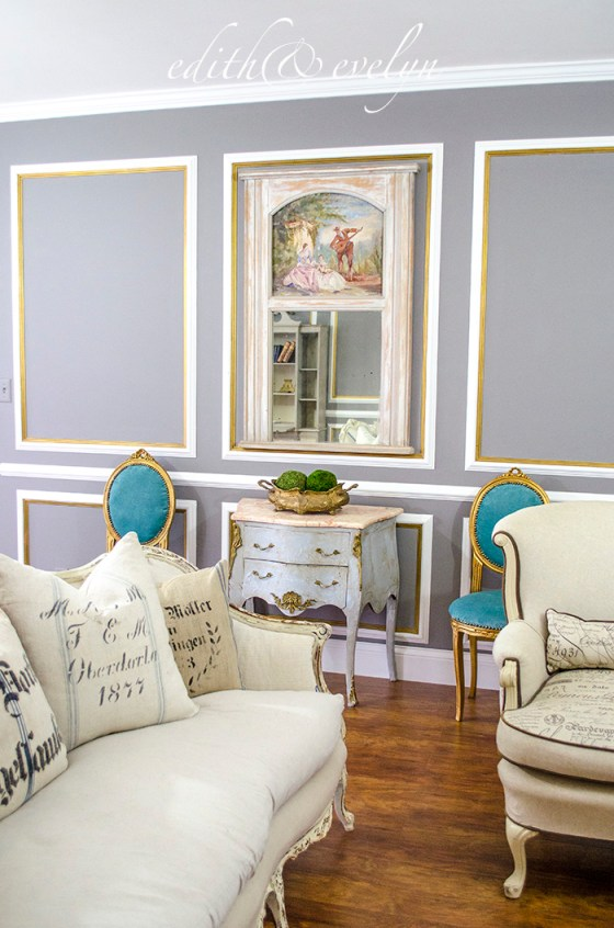 Petite French Chairs and Living Room Progress | Edith & Evelyn | www.edithandevelynvintage.com