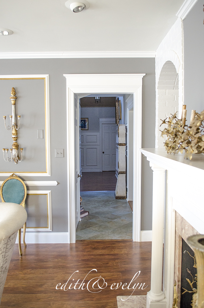 How to Add Moulding to Doors | Edith & Evelyn | www.edithandevelynvintage.com