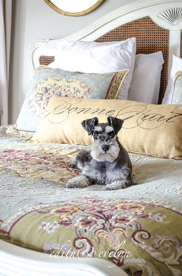 Master Bedroom Refresh | New Bedding | Edith & Evelyn | www.edithandevelynvintage.com