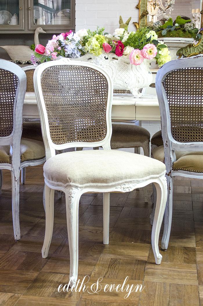 Homemade Glaze And Cane Chairs | Edith U0026 Evelyn |  Www.edithandevelynvintage.com