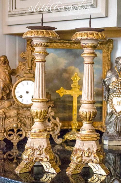 French Altar Sticks   Edith & Evelyn   www.edithandevelynvintage.com