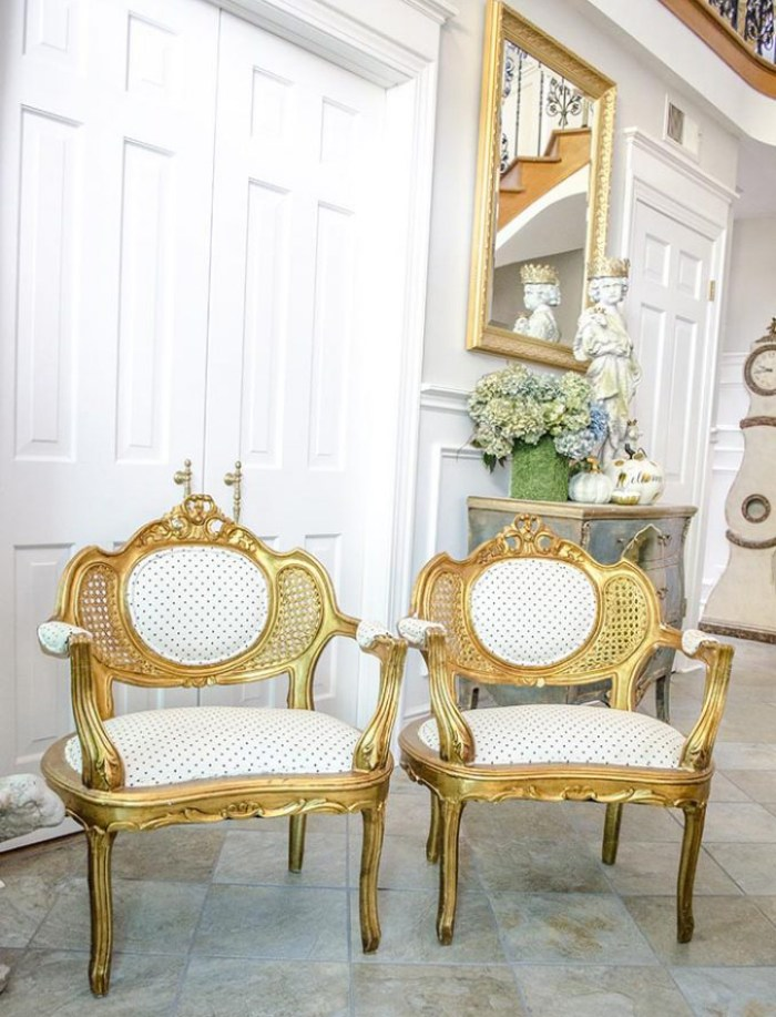 French Chair Makeover   Edith & Evelyn   www.edithandevelynvintage.com