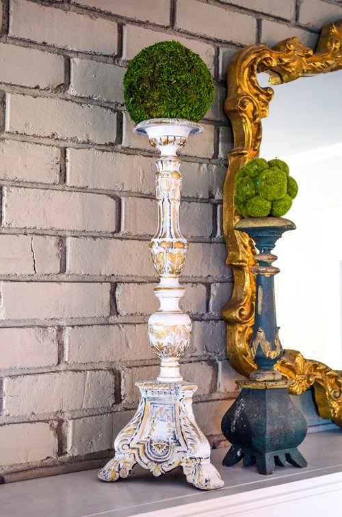 How to Turn a Salvaged Lamp into an Antique Candlestick | Edith & Evelyn | www.edithandevelynvintage.com