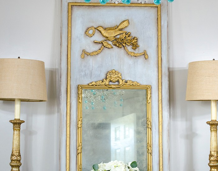 How to Create a French Trumeau Mirror | Edith & Evelyn | www.edithandevelynvintage.com