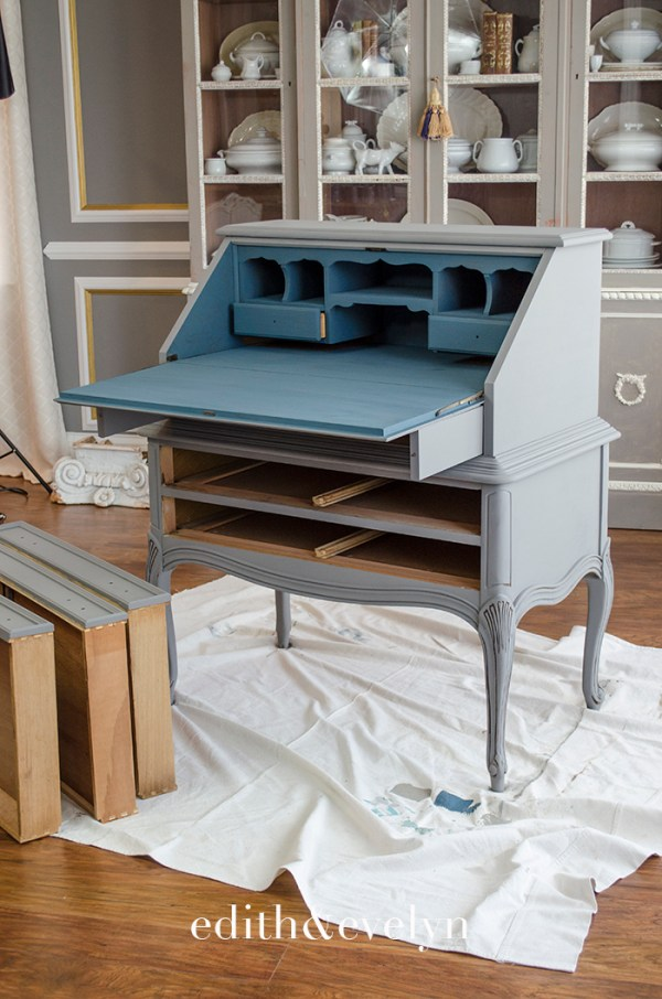French Secretaire Makeover | Edith & Evelyn | www.edithandevelynvintage.com
