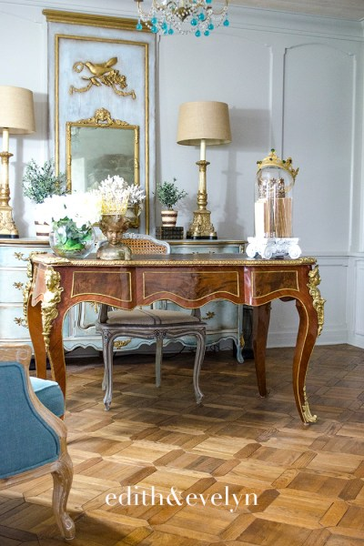 French Plat Desk in the Study