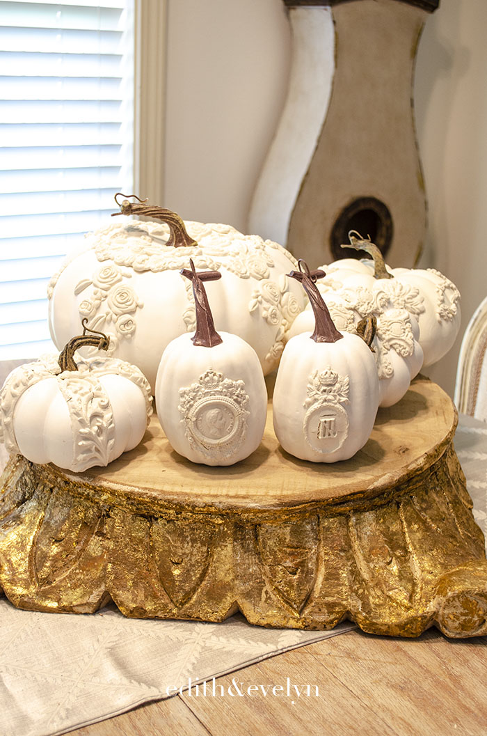 How to Create Fancy Pumpkins with Clay Moulds | Edith & Evelyn | www.edithandevelynvintage.com