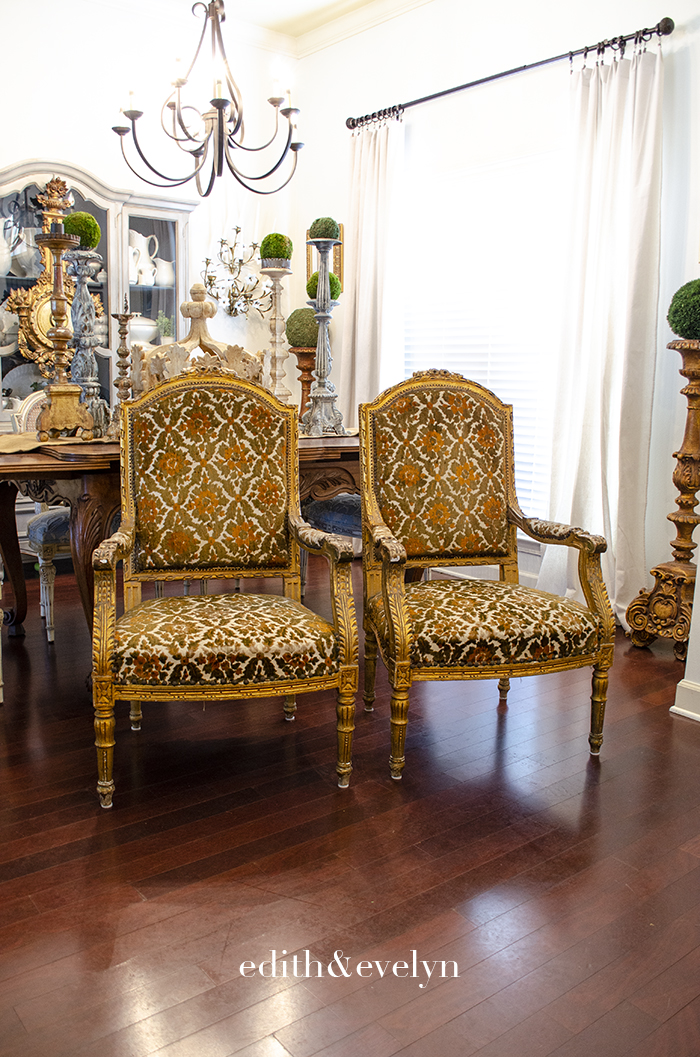 Antique Estate Sale Louis XVI Chairs | Edith & Evelyn | www.edithandevelynvintage.com