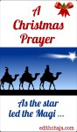 A CHRISTMAS PRAYER AND BIBLE VERSES