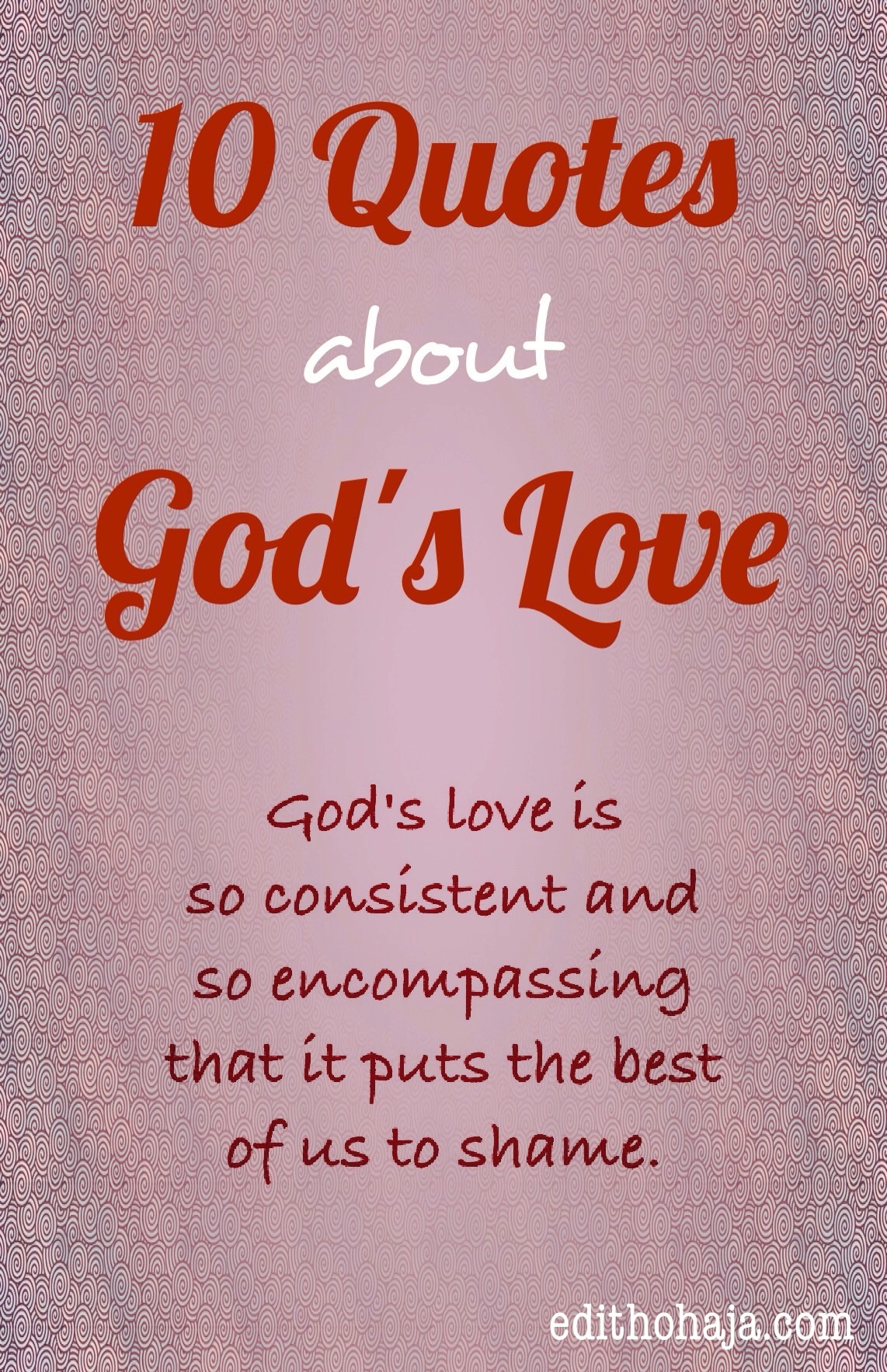 You can also check out these popular posts about God and His love for us