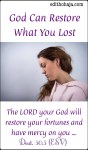 GOD CAN RESTORE WHAT YOU LOST