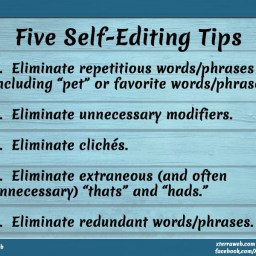 Five Self-Editing Tips for Writers and Authors