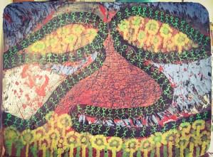 Oeuvre sur panneaux de circulation de Malik Duranty
