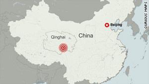 The earthquake struck China's Qinghai province.