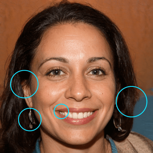 Focus on ears and teeth