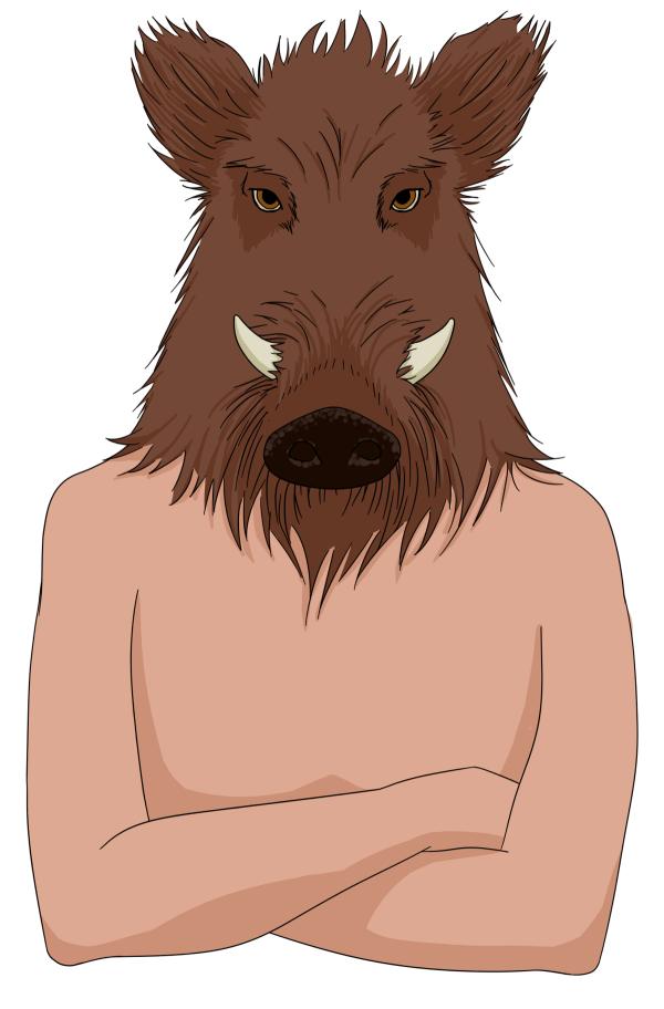 Le géant de Hauts, dessin couleur d'Annick Paul