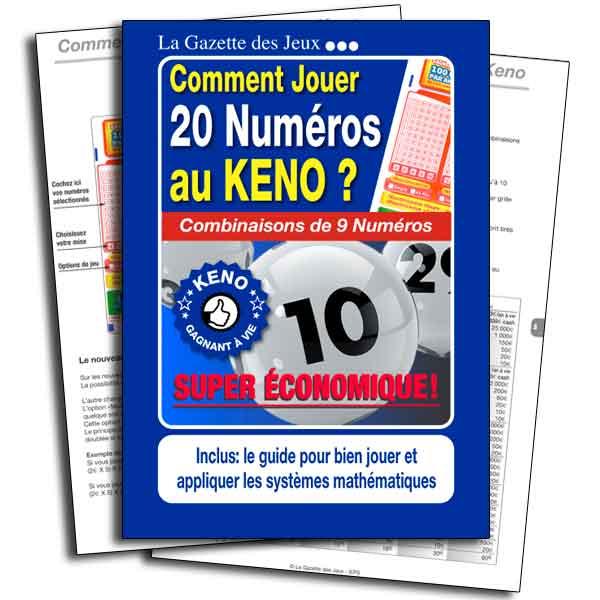 système 20 numéros combinaisons de 9