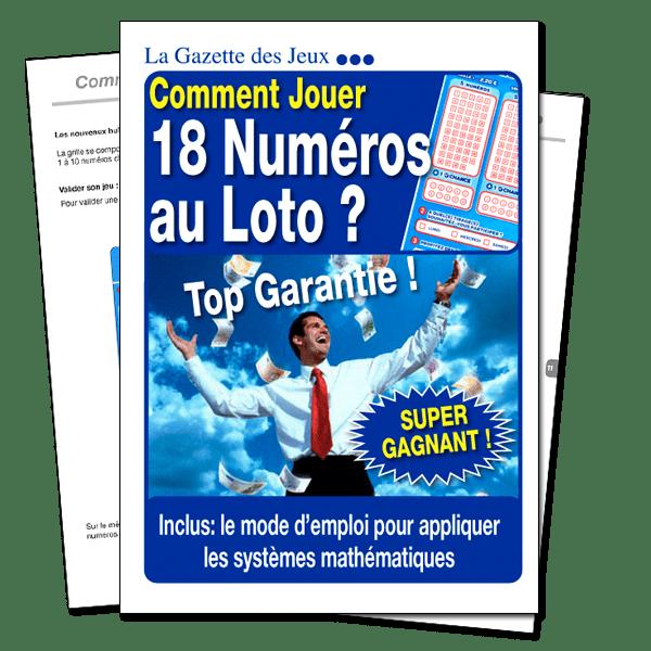 système pour 18 numéros au loto