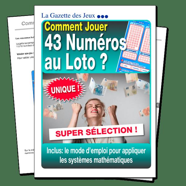 Comment 43 numéros au loto