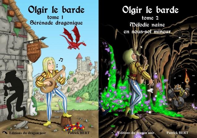 éditions du dragon noir éditeur de romans de fantasy et de fantastique la saga d'Olgir le barde publication