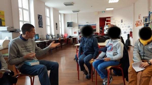 intervention rencontre élève école BERT Patrick Olgir le barde