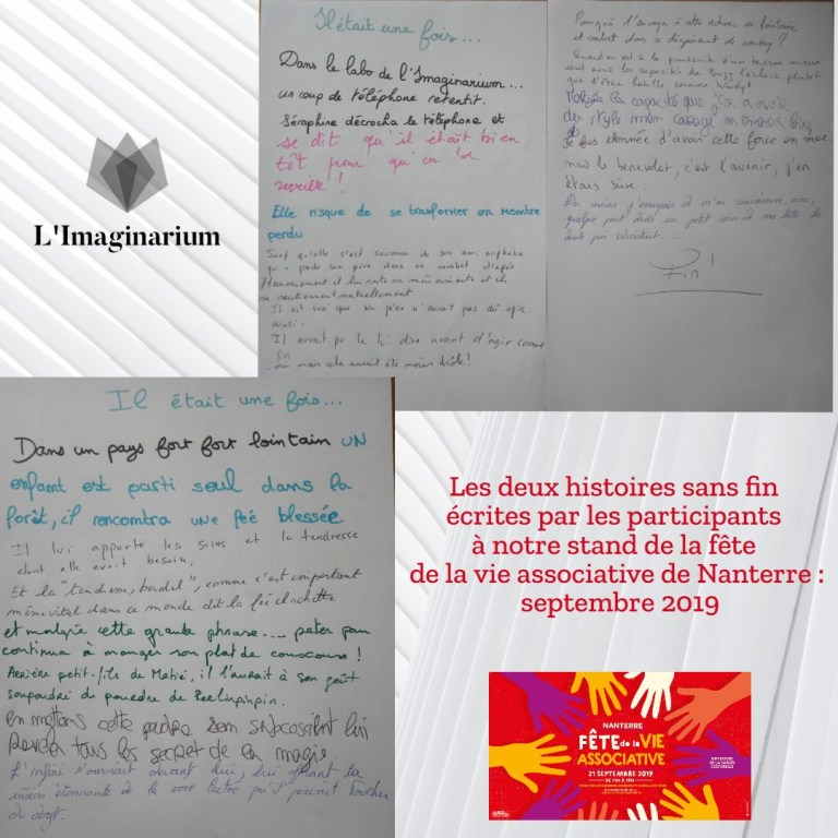 Photos Histoires sans fin écrites durant la fête de la Vie Associative de Nanterre