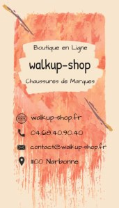 Front carte de visite walkup-shop
