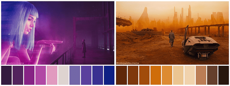 Blade Runner Color Palette