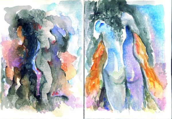 Leïla des rues et des nuits, peintures de S. Farzat