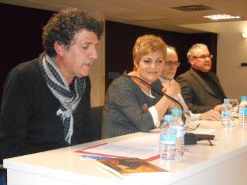 Paco López Mengual presentó la velada junto a la autora, Pepe Cantero y Santa Cruz García Piqueras
