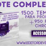 After Effects templates : 1500 video templates para propaganda + 950 FUNDOS CHROMA KEY