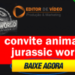 Convite Animado Jurassic world