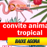 Convite Animado Tropical