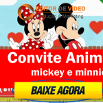 Convite Animado Mickey e Minnie
