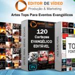 Cartaz evangélico editável